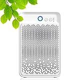 Nuaer Deshumidificador portátil de 1000 ml, deshumidificador ultra silencioso de bajo consumo de energía, función de apagado automático, adecuado para el hogar, dormitorio, sótano, baño, oficina