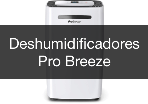 Menu Deshumidificadores Pro Breeze